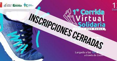 Se cierran inscripciones para Primera Corrida Virtual Solidaria de Ñuble